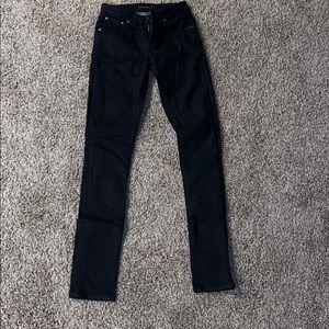 Men's skinny black nudie jeans